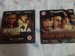 """2 лицензионных DVD диска с фильмами """"Enigma"""", """" Heavens Fall"""""""