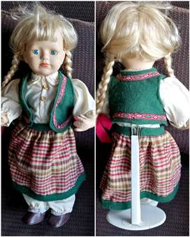 50cm porcelain doll on stand