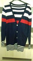 Sweterek kardigan marynarski styl
