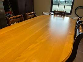Yellow & Black Wood Table