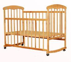 Детская кроватка натуральная+ПОДАРОК матрац светлый бук наталка