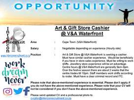 Art & Gift Store Cashier @ V&A Waterfront - Cape Town