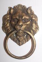 Бронзовая стукалка стучалка Лев дверная ручка молоток(бронза,латунь
