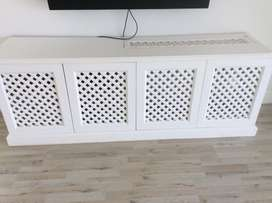 White wooden Tv stand/ cabinet