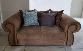 2x 2 seater suede couches