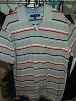 Koszulka polo Tommy Hilfiger rozmiar L vintage polówka szara bdb stan