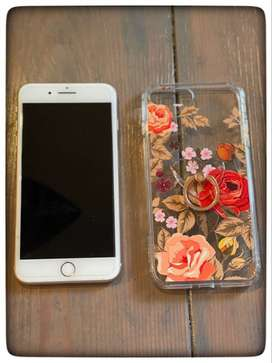iPhone 8+ (unlocked) with Rose Case