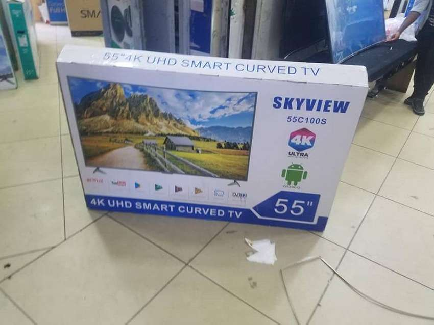 new 55 inch skyview smart 4k uhd curved tv cbd shop call now 0