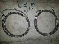Image of Teflon braided fuel lines and fittings