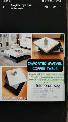 Imported swivel coffee table