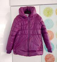 Ciepła zimowa pikowana kurtka C&A r. 122