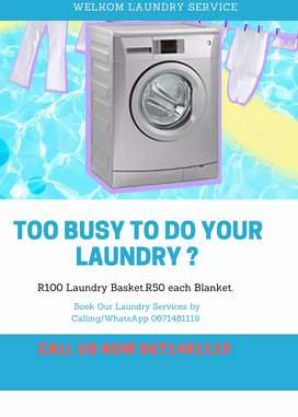 Laundry contacts on poster