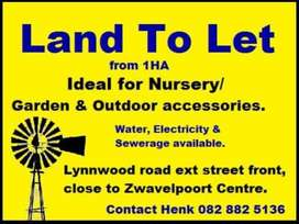Land To Let / Land For Rent