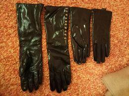 Кожаные перчатки!
