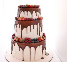 Свадебные торты на заказ, без мастики!