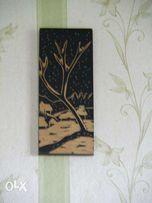 Картина резьба по дереву Пейзаж