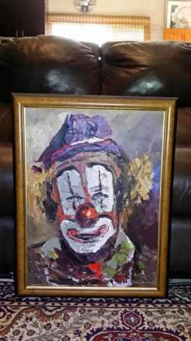 "Pieter Van Blommestein ""The Clown"" Original Oil Painting"