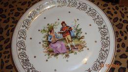 Talerz wideńska miłośc , duży dekoracyjny , porcelana