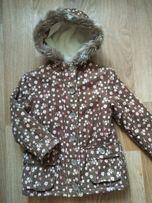 Куртка-парка демисезон, евро-зима на девочку 7-9лет.