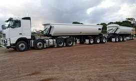 34 TON SIDE TIPPER TRUCKS FOR HIRE.