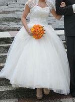 SUPER CENA (wysyłka gratis)przepiękna suknia ślubna rozm. 36