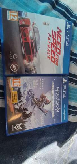Ps4 need for speed and  horizon complete edition