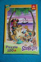 Puzzle SCOOBY-DOO 100 elem + mini puzzle + zawieszka, Trefl