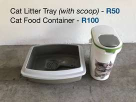 Cat Litter Box and Food Container