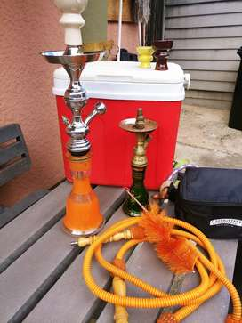 Hubbly bubbly ×2 with cooler and accessories