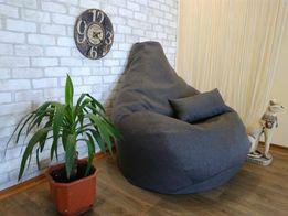 Кресло- мешок -Груша (из мебельной рогожки Пуф, Кресло-мяч,S; L;XL;XXL