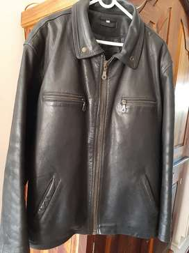 Men's leather jacket  xxl