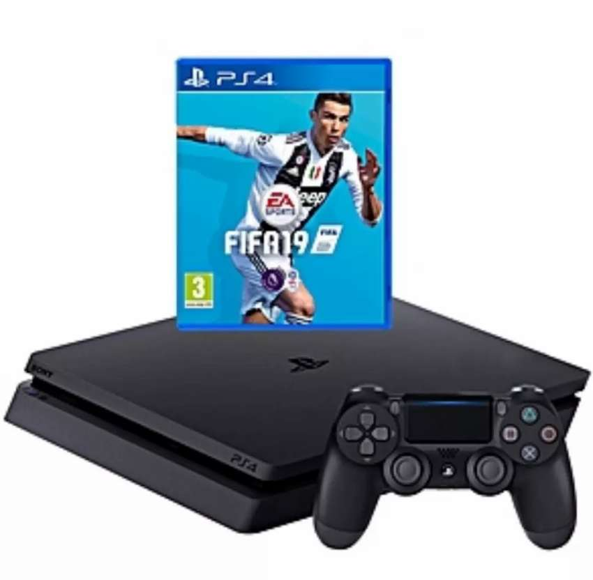 PLAYSTATION 4 (PS4) + FIFA 19 - Black 0