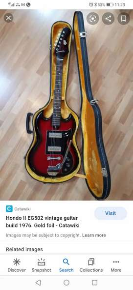 Looking for vintage guitars