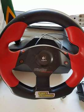 Logitech steering wheel and pedals
