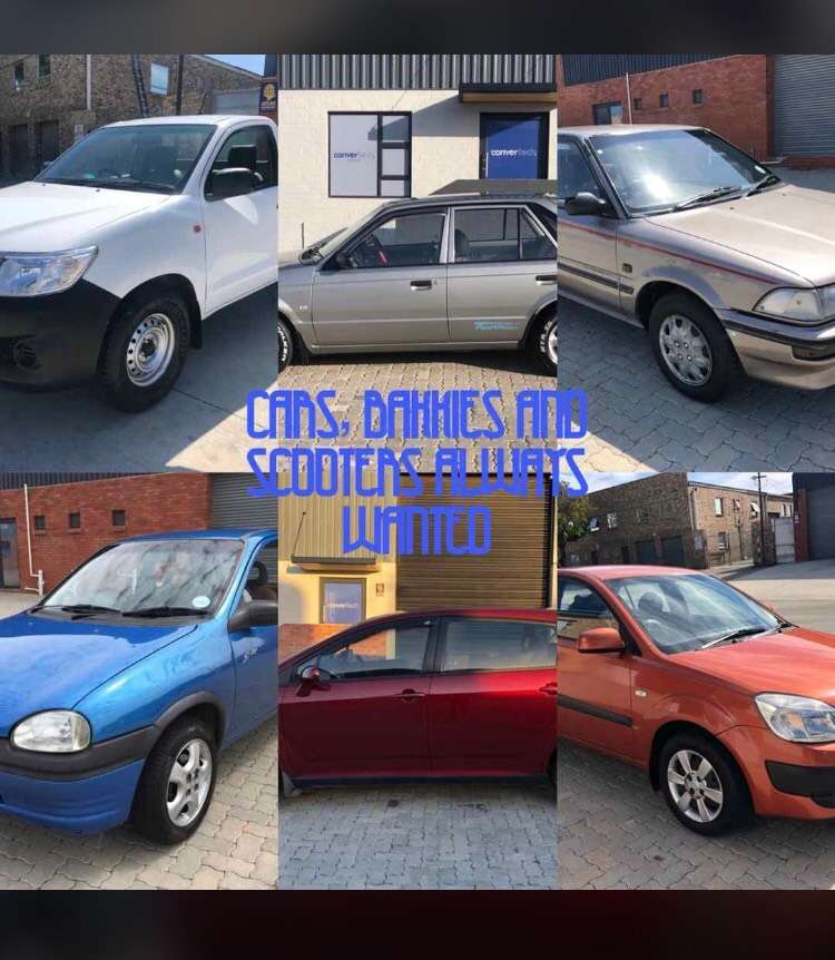 Cars and bakkies wanted 0
