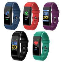 Фитнес браслет Smartch ID115 плюс/монитор сердечного ритма/давление