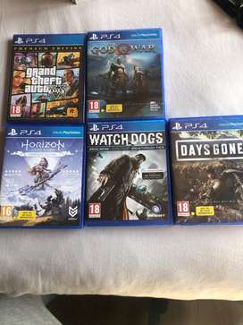 5 PS4 games , 3 havent been opend out of the packet