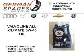 NEW VALVOLINE ALL CLIMATE 5W-40 OIL FOR SALE