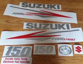 Suzuki DF 150 outboard motor cowl stickers decals
