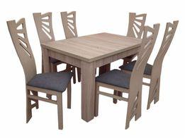 6 Krzeseł + Solidny Stół Rozkładany! Bogata Kolorystyka! SPRAWDŹ
