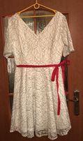 Piękna koronkowa sukienka na komunię wesele r 44 nowa