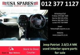 Jeep Patriot 2.0/2.4 MK 2007-17 used interior spare parts for sale