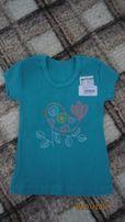 На девочку новая футболка бирюза Baby Art р.110-116см