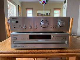 Onkyo Stereo Amplifier And Onkyo CD Changer