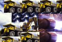 Image of drilling rig machinery tlb forklift fel dump truck heavy mobile cranes