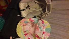 Infant car seat and bouncer