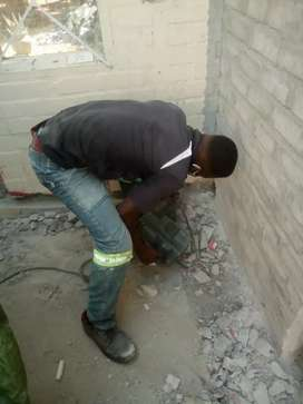 plumbing, painting, pavement, and tiling