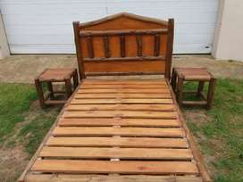 Solid log Double Bed