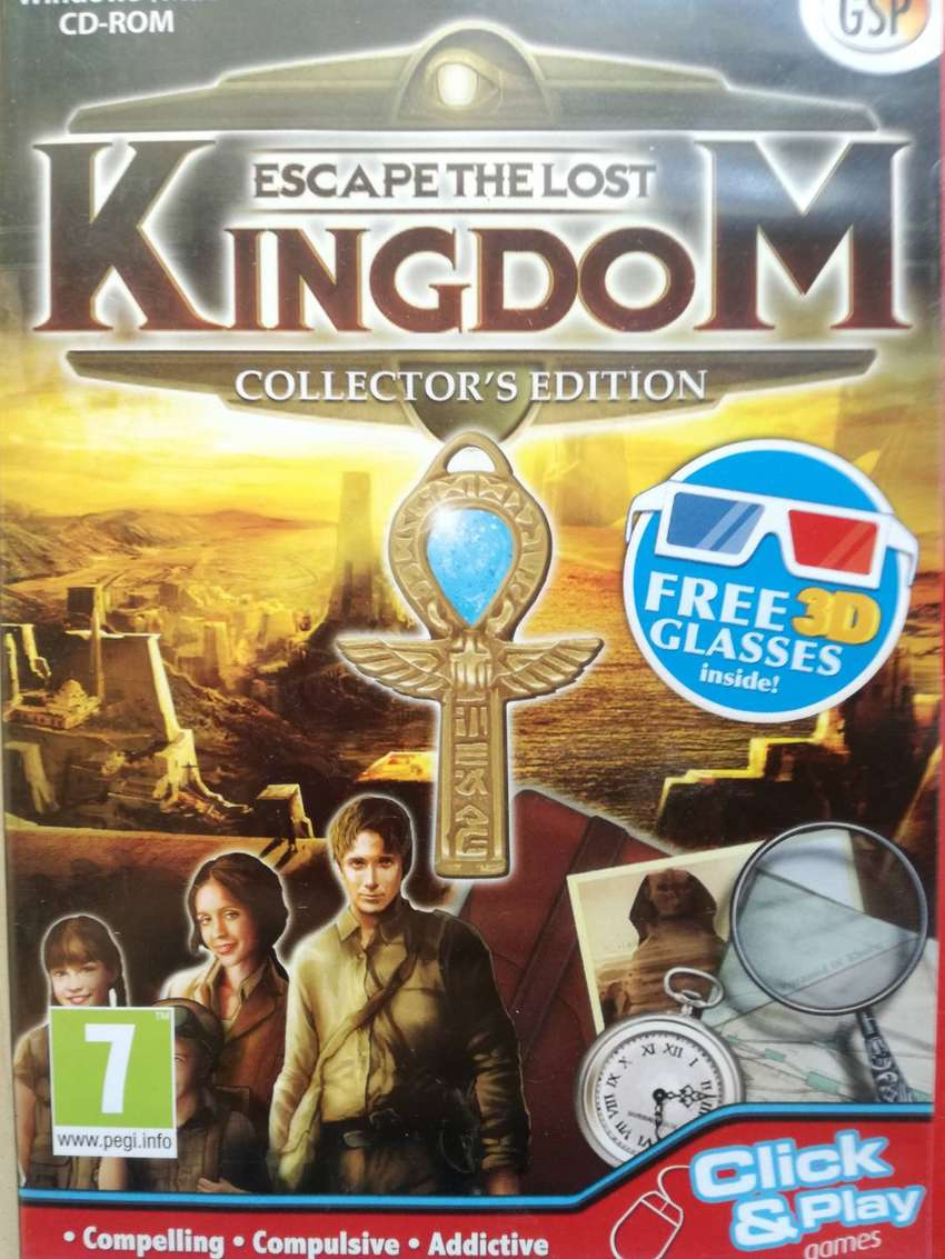 WINDOWS MAC CD ROM GAME ESCAPE THE LOST KINGDOM: COLLECTOR'S EDITION 0