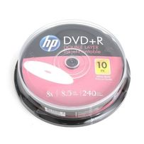 DVD+R DL Hewlett-Packard HP Printable 8,5Gb 8x cake box 10pcs